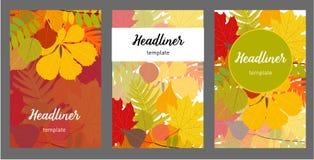 Illustrated autumn background - vector illustration. Illustrated autumn background set. Book cover. Booklet. vector illustration stock illustration