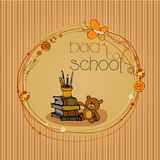 Illustrated back to school background Royalty Free Stock Photos