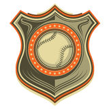 Illustrated baseball crest. Royalty Free Stock Images