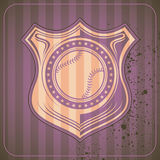 Illustrated baseball crest. Stock Image