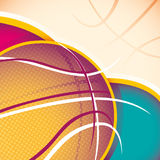 Illustrated basketball banner. Stock Photography