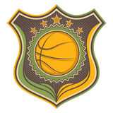Illustrated basketball crest. Stock Images