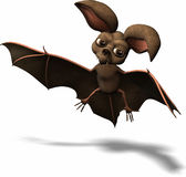 Illustrated bat. Artistic cartoon of a brown bat Stock Photography