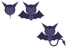 Illustrated Bats Royalty Free Stock Photography