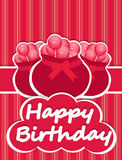 Illustrated birthday cards candy jar Royalty Free Stock Photo