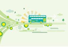 Illustrated bus background Royalty Free Stock Image