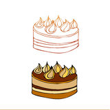 Illustrated cake Royalty Free Stock Photography