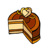 Illustrated cake Stock Images