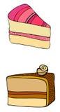 Illustrated cake Stock Image