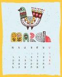 Illustrated calendar vector illustration