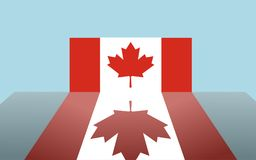 Illustrated Canadian flag Royalty Free Stock Photography