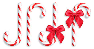 Illustrated Candy Canes Stock Image