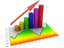 Illustrated chart or graph. An illustrated chart or graph Stock Image