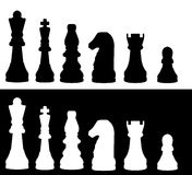Illustrated Chess Pieces Royalty Free Stock Images