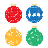 Illustrated Christmas Ornaments Stock Image