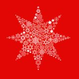 Illustrated Christmas star Stock Photo