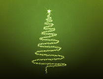Illustrated Christmas tree Royalty Free Stock Images