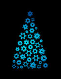 Illustrated christmas tree Royalty Free Stock Photography