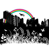 Illustrated City Background Royalty Free Stock Images