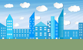 Illustrated city panorama - vector Royalty Free Stock Image