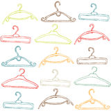 Illustrated clothes hangers Royalty Free Stock Image