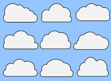 Illustrated Clouds Stock Image