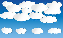 Illustrated clouds Stock Photos