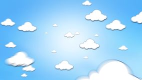Illustrated clouds zoom out Royalty Free Stock Photography