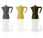 Illustrated coffeepot. On white background Royalty Free Stock Photography