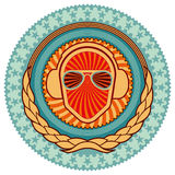 Illustrated colorful clubbing emblem. Royalty Free Stock Images