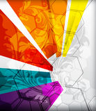 Illustrated colorful layout with abstraction Royalty Free Stock Photography