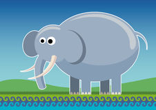 Illustrated comic elephant. Royalty Free Stock Photo