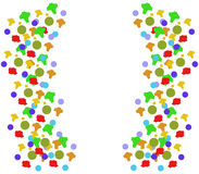 Illustrated confetti Stock Image