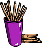 Illustrated Cracker sticks Royalty Free Stock Photography
