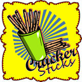 Illustrated Cracker sticks label Royalty Free Stock Photo