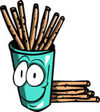 Illustrated Cracker sticks in smiling glass Royalty Free Stock Photos