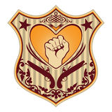 Illustrated crest. Royalty Free Stock Photo
