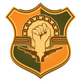Illustrated crest. Stock Photography