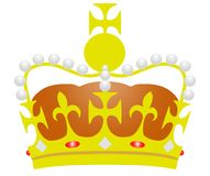 Illustrated Crown Stock Photos