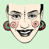 Illustrated cute abstract girl Royalty Free Stock Photos