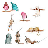 Illustrated cute animals Royalty Free Stock Photography