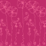 Illustrated cute flowers Royalty Free Stock Photo