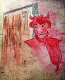 Illustrated devil Royalty Free Stock Photo