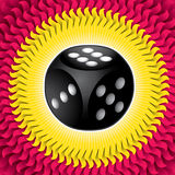 Illustrated dice. Royalty Free Stock Photography