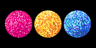 Illustrated disco balls Stock Image