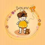 Illustrated doodle Baby arrival card Stock Images