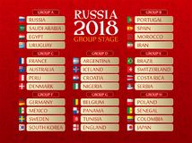 Russia 2018 World Cup Draw Royalty Free Stock Photography