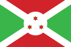 An Illustrated Drawing of the flag of Burundi Royalty Free Stock Photography