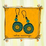 Illustrated earrings Stock Photo