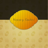 Illustrated Easter card design Royalty Free Stock Photography